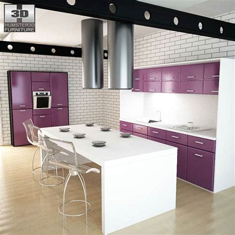 kitchen set pic kitchen set i3 3d model hum3d