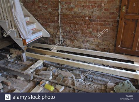 buying a house with dry rot house repairs after finding d and dry rot new joists stock photo royalty free