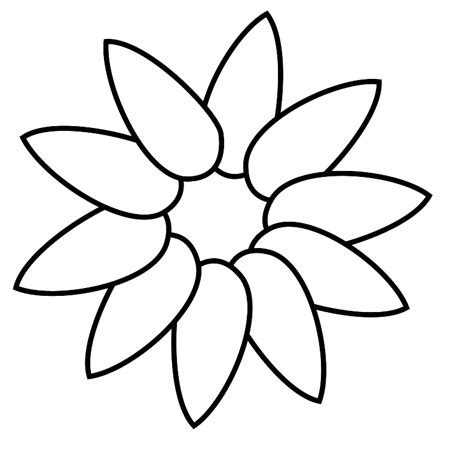 5 petal flower template clipart best