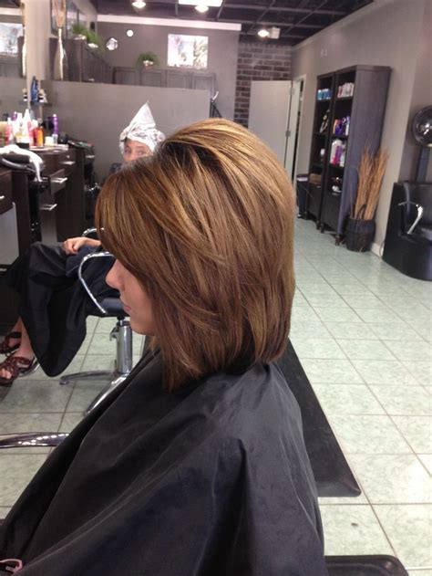 bumbed up bobs long angled bob side view wish i coukd get my hair to