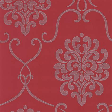 red damask wallpaper home decor dl30441 red modern damask suzette decorline wallpaper