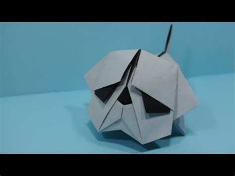 How To Make An Origami Pug - origami bulldog by jacky chan