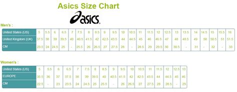 asics shoe size chart shoe size conversion for search results calendar 2015