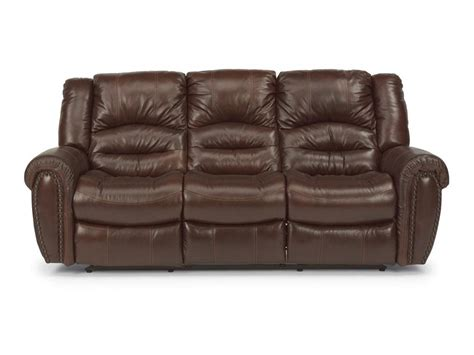 power reclining sofa leather flexsteel living room leather power reclining sofa 1210