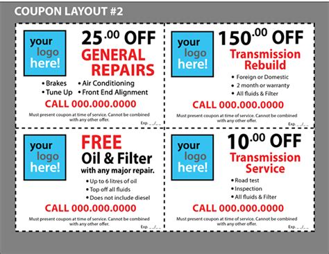 custom coupons free template custom coupon templates for your business on behance