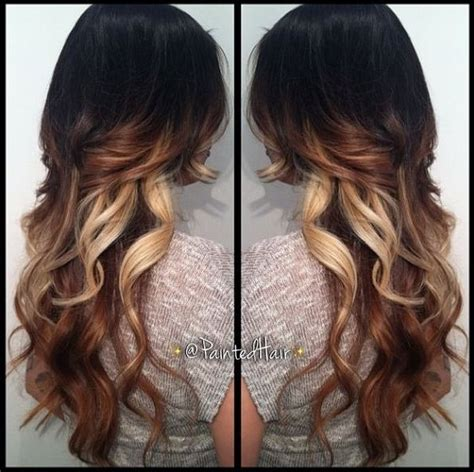 tri colored hair tri colored hair ombre with layers awesome hair