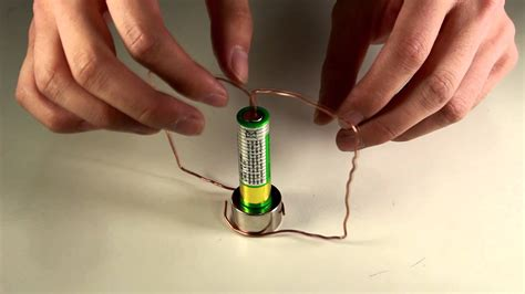how to make a magnetic motor make a simple motor with battery magnet and copper wire