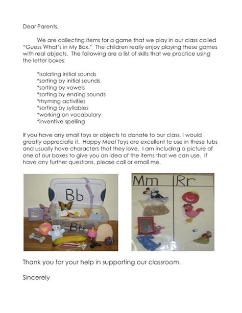 Parent Letter Common Kathy Griffin S Teaching Strategies Diy Abc Letter Tubs And The Common