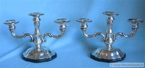 candelieri in argento porta candelieri argento coppia di candelieri in argento