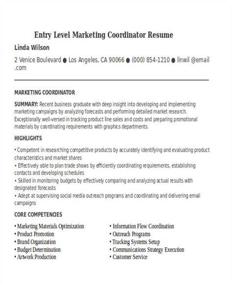 marketing resume sles entry level 30 simple marketing resume templates pdf doc free