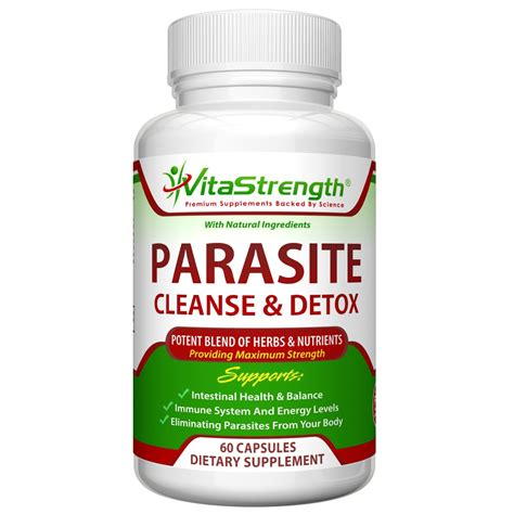Detox Cleanse Medication by Vitastrength Premium Parasite Cleanse