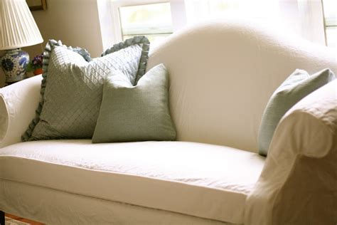 Pillow Back Sofa Slipcovers by Custom Slipcovers By Shelley White Camel Back