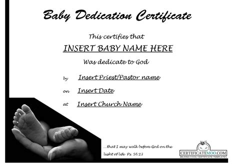 best photos of baby certificate template free printable