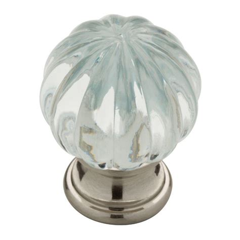 Clear Acrylic Knobs by Liberty 1 1 4 In Satin Nickel With Clear Acrylic Ridge