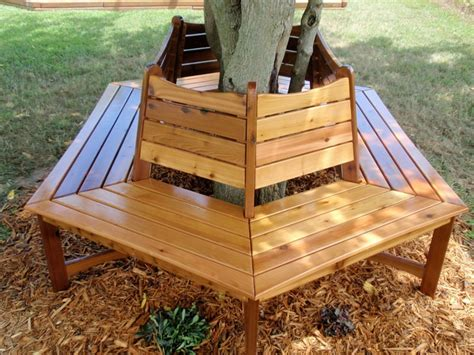 bench around a tree design diy garden projects for the perfect backyard
