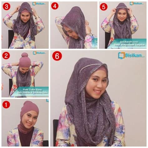tutorial hijab pesta shafira tutorial hijab untuk pesta 2