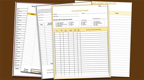 5 plus log sheet templates for microsoft 174 word and excel 174