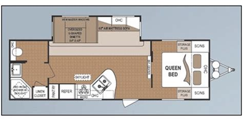 four winds travel trailer floor plans 2011 four winds m 281rbs specs and standard equipment