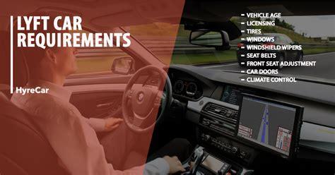 uber  lyft car  driver requirements