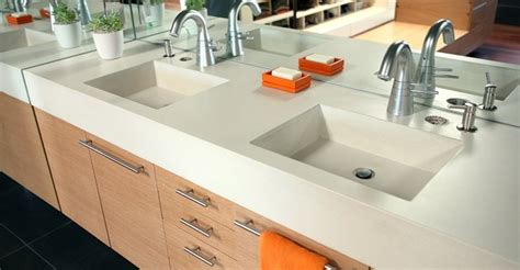 Washroom Countertops by Bathroom Vanity Concrete Designs For Bathroom Vanities