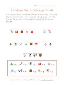Christmas Puzzle Worksheet Decode Christmas Message