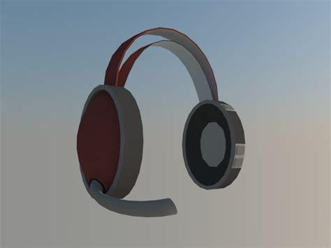 Headset Model Bando Mic headset 3d model headphones audio 3ds dxf dwg obj ar vr