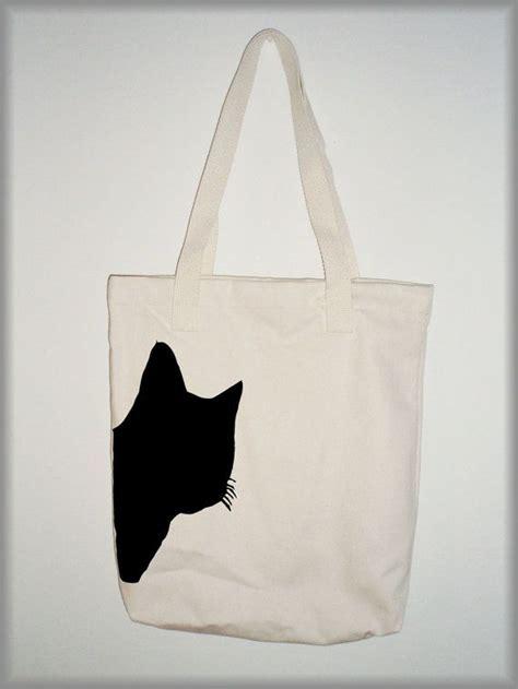 Tas Tote Bag A1 best 25 black cat silhouette ideas on black