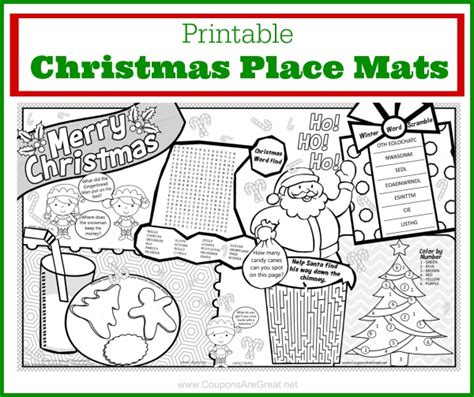 printable xmas placemats this free printable christmas placemat will keep kids