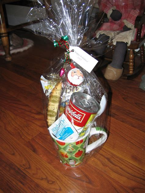quot lunch in a cup quot gift basket can of soup goldfish