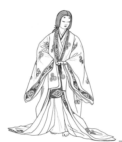 japanese kimono coloring page kimono japan colouring pages sketch coloring page