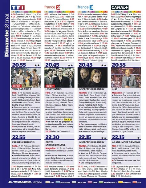 program tv tv magazine le magazine t 233 l 233 n 176 1 nr communication