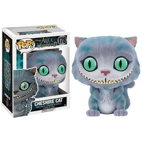 Funko Pop Disney In Cheshire Cat Flocked in flocked cheshire cat pop vinyl figure