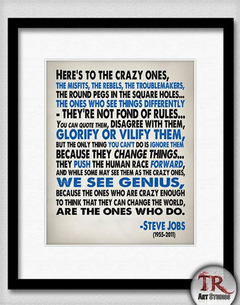 printable steve jobs quotes steve jobs quote heres to the crazy one s typography