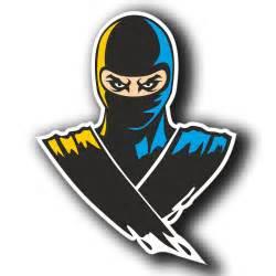 2 x glossy vinyl stickers ninja warrior motorbike cool ipad laptop decal 4065 ebay