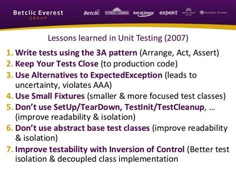aaa pattern unit test mini training moving to xunit net