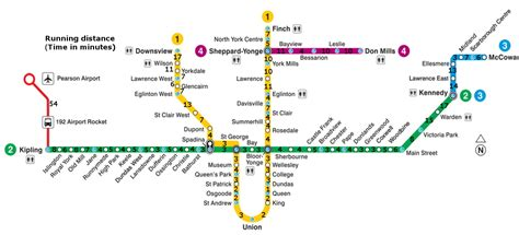 toronto subway map here s how it would take to run between toronto subway stations canadian running magazine