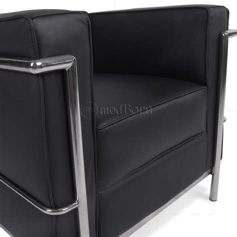 Le Corbusier Lc2 Armchair by Le Corbusier Style Lc2 Armchair 1 Seater Black Leather