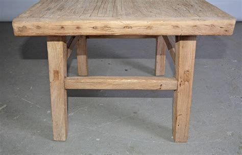 Rustic Teak Coffee Table Rustic Teak Indoor Or Outdoor Coffee Table Or Seat For Sale At 1stdibs
