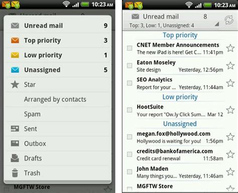 android email client meet the new emailtray for android mobile email client app a personal concierge in your