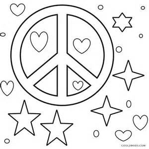 peace sign coloring pages free printable peace sign coloring pages cool2bkids