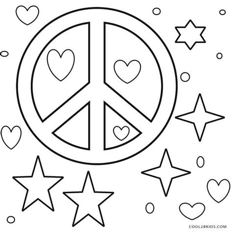 Peace Sign Coloring Pages Printable Sketch Coloring Page Peace Sign Coloring Page