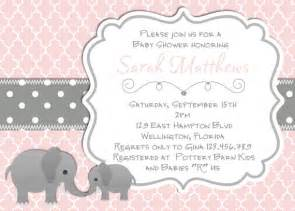 elephant baby shower invitation baptism or christening