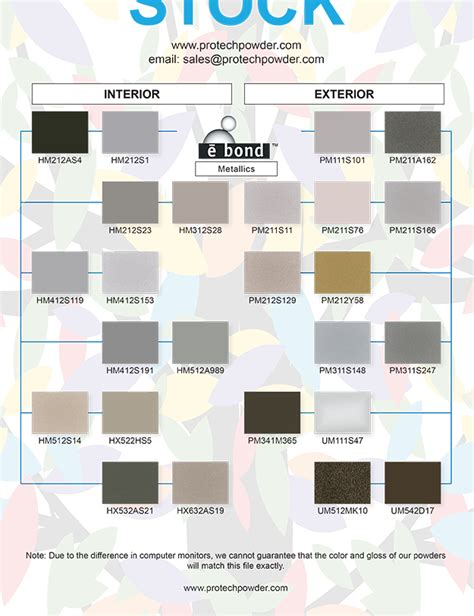 powder coating colors protech oxyplast powder coatings color charts
