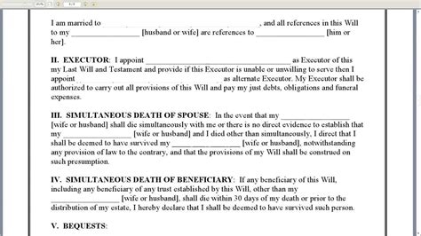 new york last will and testament married adult with no