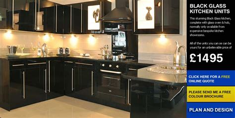 tsunami kitchen for sale at preownedkitchens co uk black glass affordable cheap kitchens