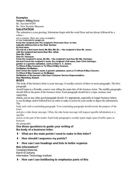 Business Letter Format Salutation Business Letter Closing Salutation The Letter Sle