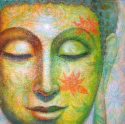 buddha oil painting modern art