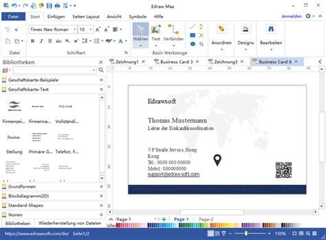 Visitenkarten Programm by Visitenkarten Selbst Erstellen Programm F 252 R Gestaltung