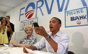 what phone does president use president barack obama experiences some technical difficulties on the caign trail after