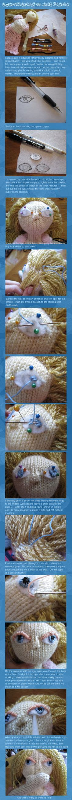 embroider on knitted toys 1000 images about how to embroider on